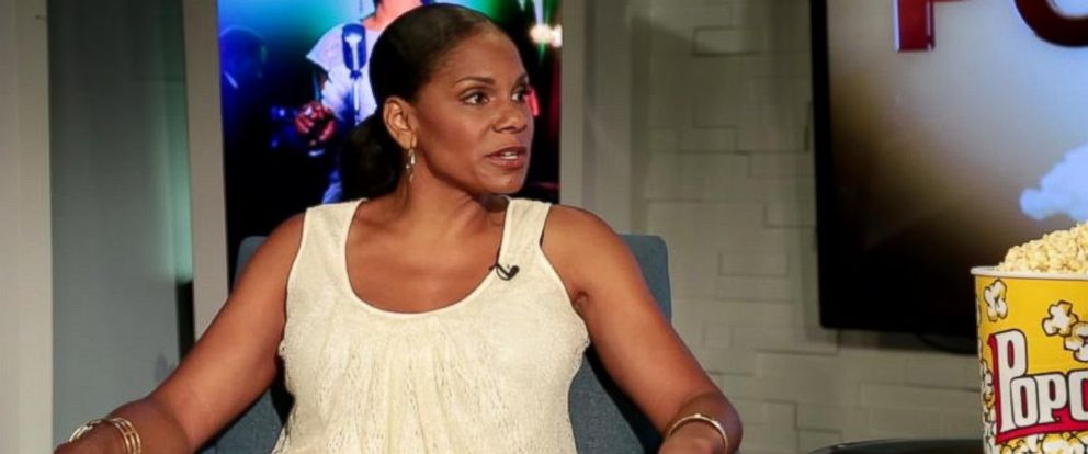 """PHOTO: Audra McDonald speaks to Peter Travers on an episode of """"Popcorn With Peter Travers."""""""