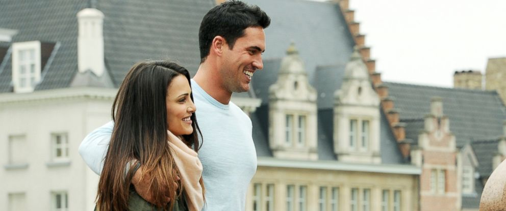 PHOTO: Andi Dorfman and contestant Josh M. enjoy a date in the town of Ghent, June 30, 2014, on The Bachelorette.