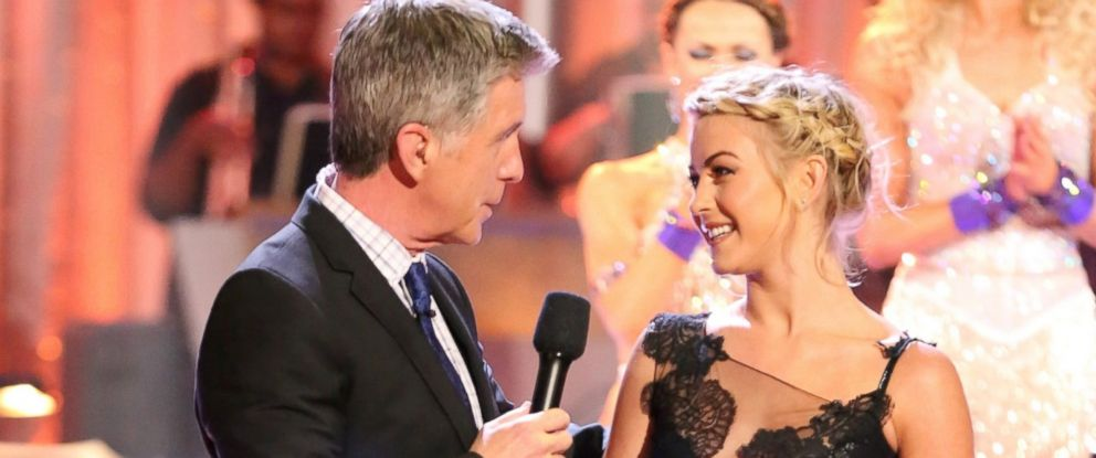 """PHOTO: """"Dancing With the Stars"""" host Tom Bergeron and former """"Dancing"""" pro Julianne Hough are shown."""
