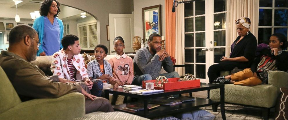 """PHOTO: The cast of """"Black-ish"""" are seen in a scene from the latest episode, """"Hope."""""""