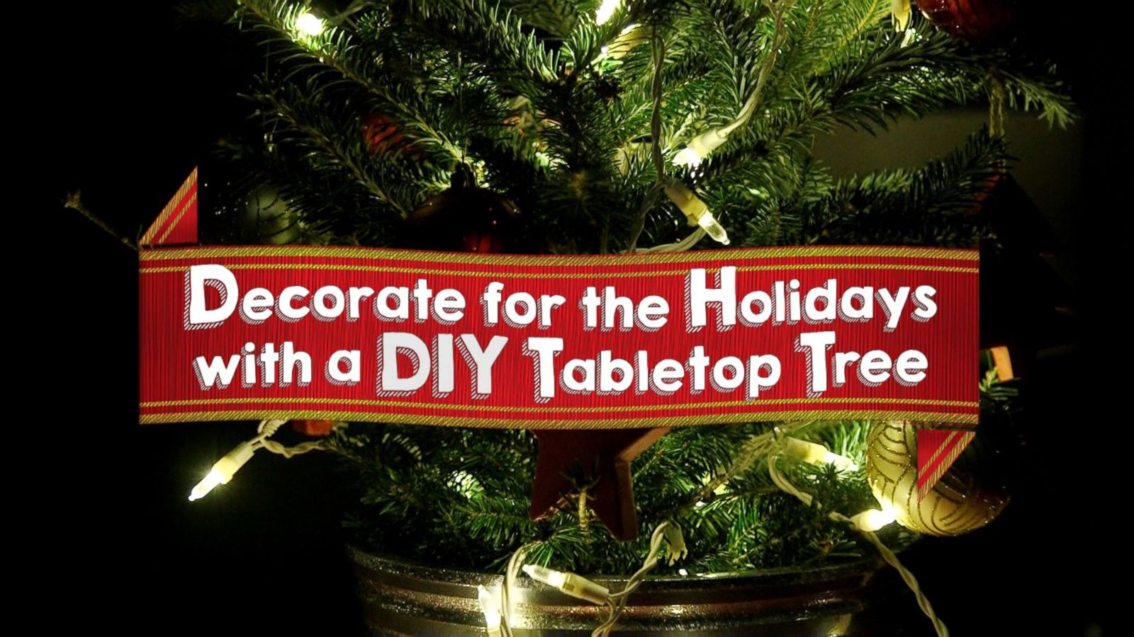 deck the halls with this diy tabletop christmas tree abc news