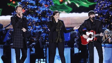 "PHOTO: Lady Antebellum performs on ""CMA Country Christmas."" For the third year, Sugarland's Jennifer Nettles will host the ""CMA Country Christmas"" special, airing Dec. 20, 2012, on ABC."