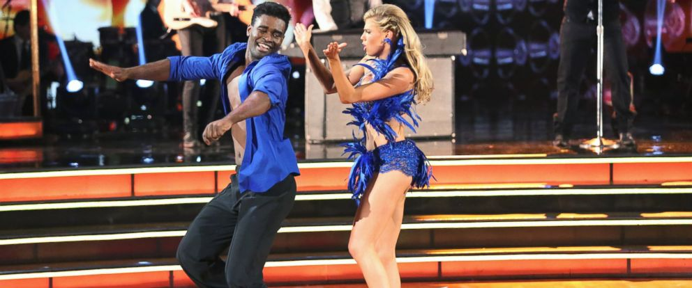 """PHOTO: Keo Motsepe and Charlotte McKinney perform on """"Dancing with the Stars."""""""