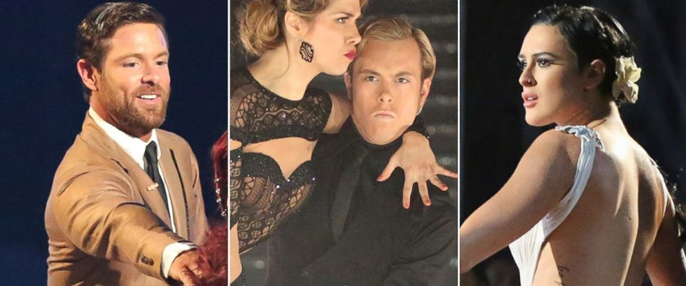 "PHOTO: From left, Noah Gallaway, Riker Lynch and Rumer Willis perform on ABCs ""Dancing With the Stars."""