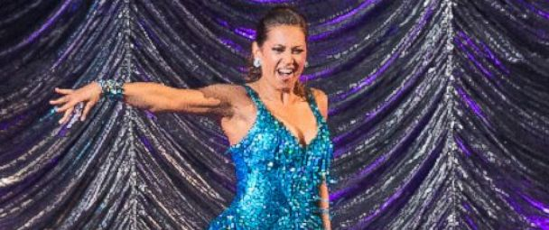 "PHOTO: Ginger Zee competes on ""Dancing With The Stars."""