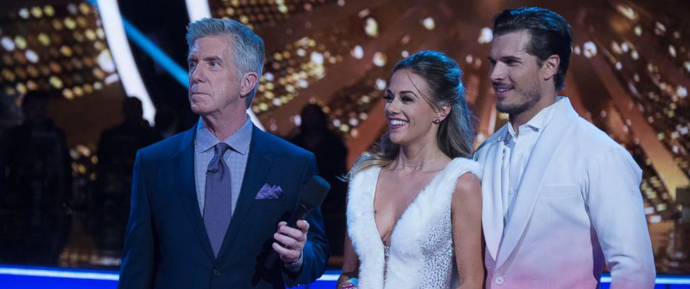 "PHOTO: Tom Bergeron, Jana Kramer and Gleb Savchenko in ""Dancing With the Stars."""