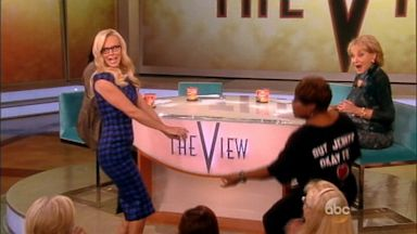 PHOTO: Jenny McCarthy twerks out a stellar 'The View' debut.