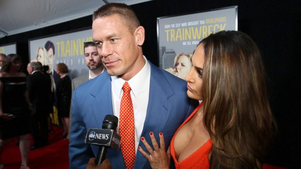 "John Cena attends the red carpet premiere of ""Trainwreck."""