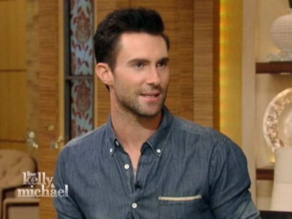 PHOTO: Adam Levine on Live! with Kelly and Michael, June 23, 2014.