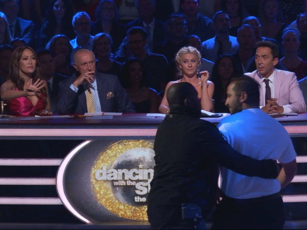 PHOTO: Ryan Lochte protestors ran on the set of Dancing With The Stars, Sept. 12, 2016.