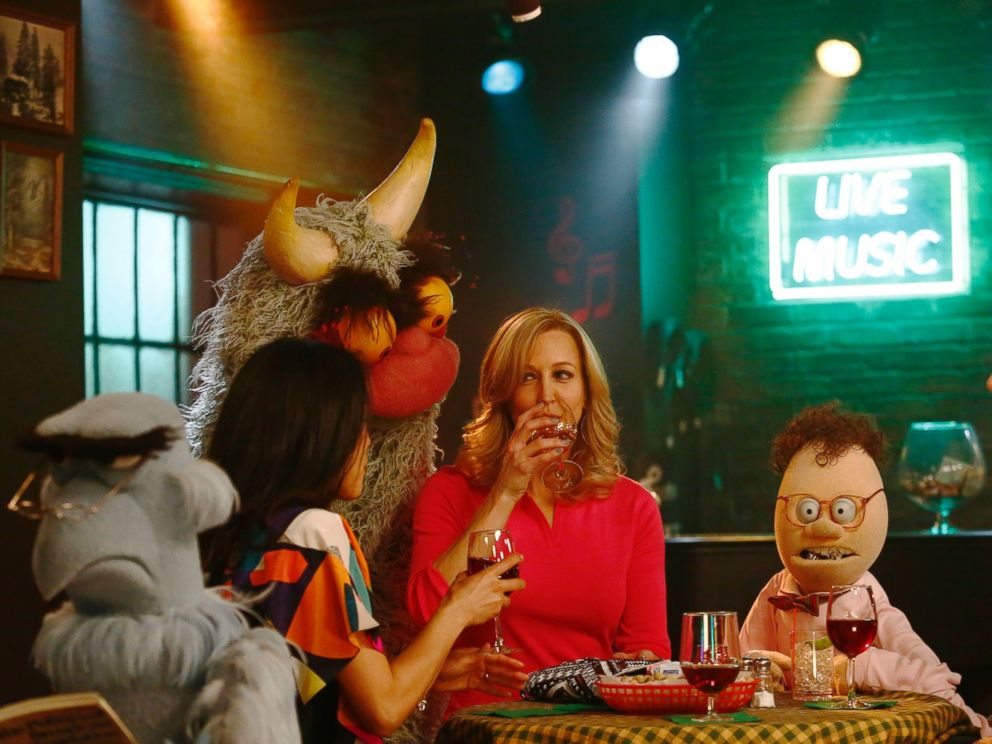 PHOTO:Good Morning America co-anchor Lara Spencer went backstage at The Muppets.