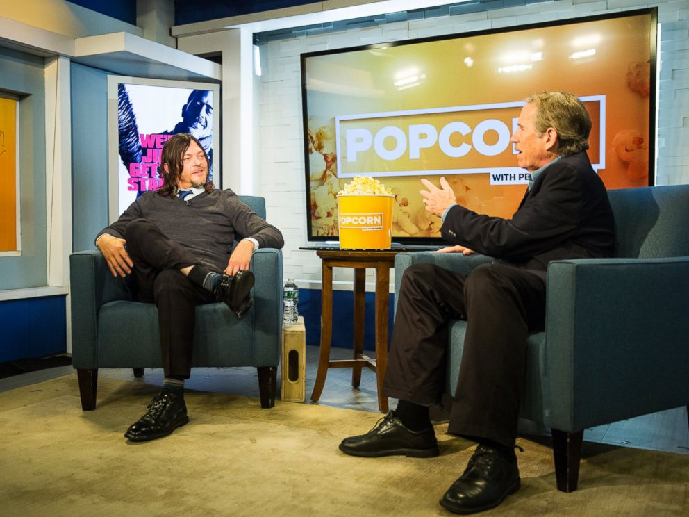 PHOTO: Norman Reedus stopped by ABC News Popcorn With Peter Travers.