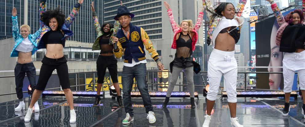 """PHOTO: Pharrell Williamss infectious hit, """"Happy,"""" has become an international pop anthem with millions around the world clapping along, moving and grooving, and doing their own happy dances."""