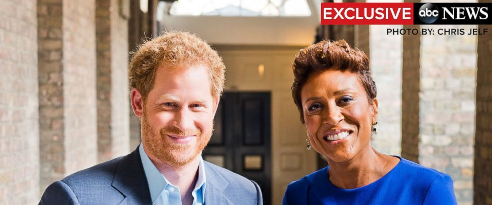 "PHOTO: Prince Harry speaks in an exclusive interview with Robin Roberts on ABCs ""Good Morning America."""