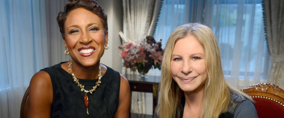 "PHOTO: Robin Roberts talks to Barbra Streisand about her new ""Partner"" album and other projects that she is working on."