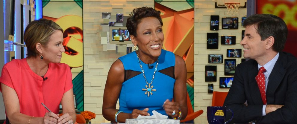 PHOTO: Robin Roberts, center, is pictured during a broadcast of Good Morning America on April 14, 2014.
