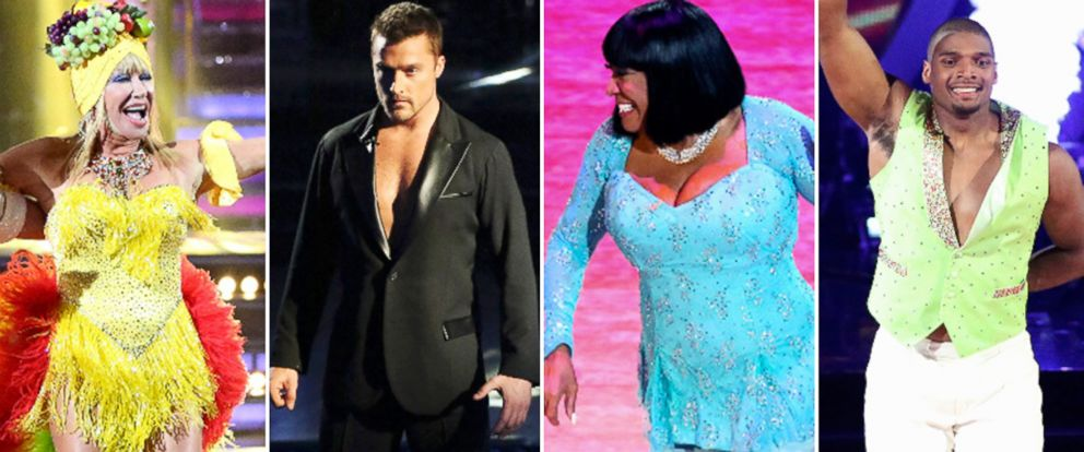 """PHOTO: Suzanne Somers, Chris Soules, Patti LaBelle and Michael Sam compete on season 20 of ABCs """"Dancing With the Stars."""""""