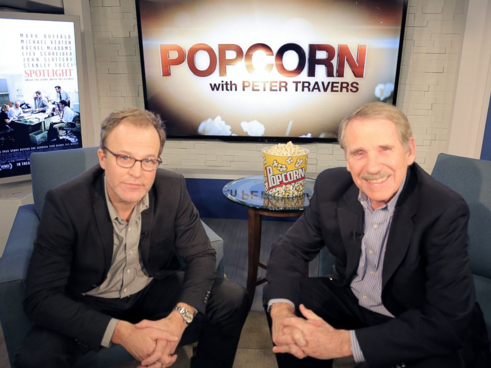 PHOTO:Spotlight director, Tom McCarthy, appears on Popcorn with Peter Travers, Feb. 24, 2016.