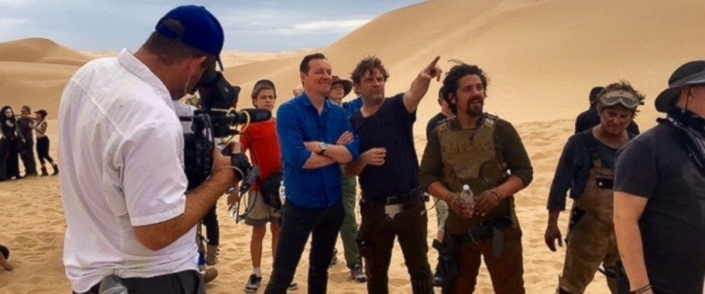 """PHOTO: ABC News Clayton Sandell went on set of the fan-made """"Star Wars"""" film, """"The Sable Corsair,"""" which was shot in the Algodones Dunes in California where scenes from """"Return of the Jedi"""" were also shot."""