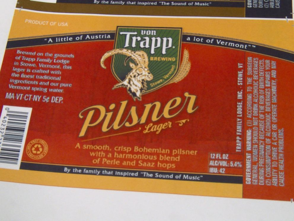 PHOTO: A mock-up of a label for the von Trapp brewerys Pilsner lager.