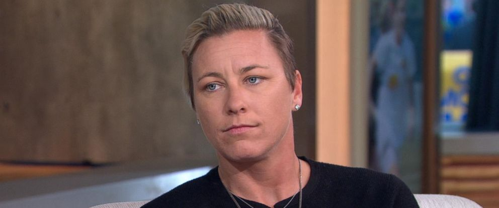 "PHOTO: Soccer star Abby Wambach opens up about her personal life and her new memoir, ""Forward: A Memoir,"" on ""Good Morning America,"" Sept. 13, 2016, in New York City."