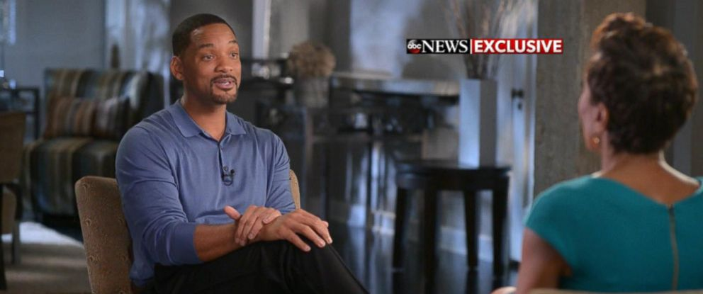 """PHOTO: Will Smith tells """"Good Morning Americas"""" Robin Roberts that he will not attend the Oscars, Jan. 21, 2016, in New York."""
