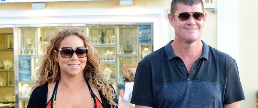 PHOTO: Mariah Carey is seen holding hands with Australian business billionaire James Packer, June 19, 2015, in Capri, Italy.