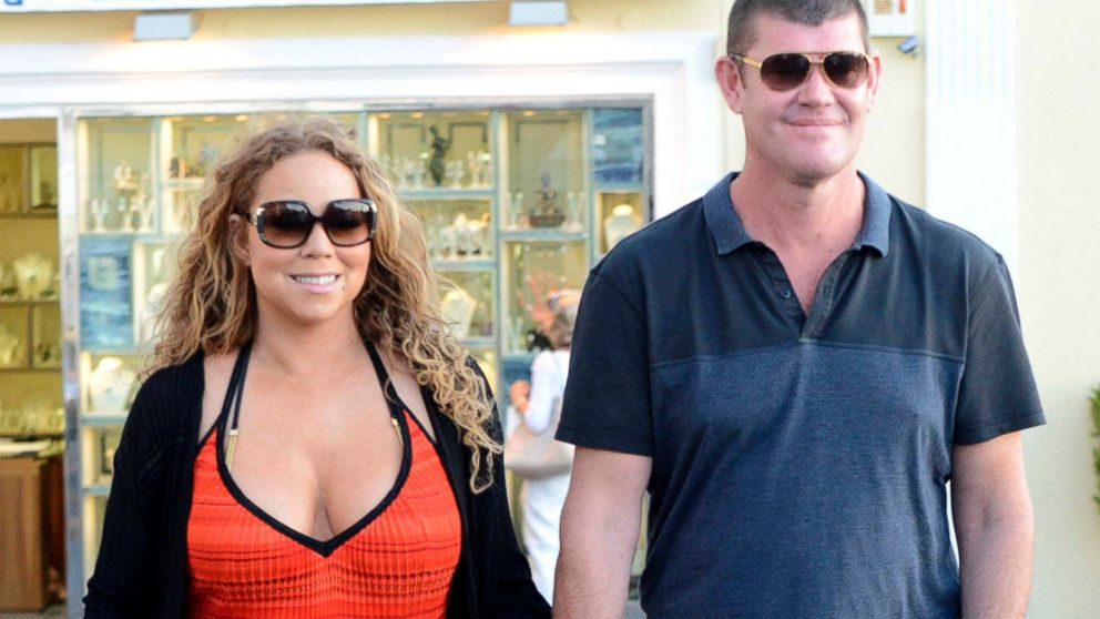 Mariah Carey is seen holding hands with Australian business billionaire James Packer, June 19, 2015, in Capri, Italy.     AKM-GSI        June  19, 2015  **USA ONLY**