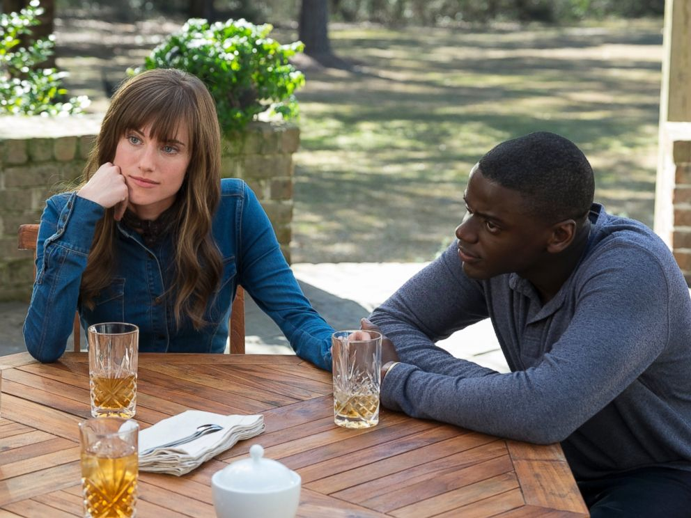 PHOTO: This image released by Universal Pictures shows Allison Williams, left, and Daniel Kaluuya in a scene from, Get Out.