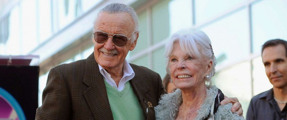 PHOTO: Stan Lee with his wife Joan after he received a star on the Hollywood Walk of Fame in Los Angeles, Jan. 4, 2011.