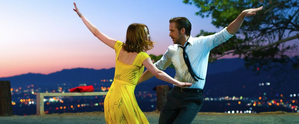 "PHOTO: A scene from ""La La Land,"" released by Lionsgate, featuring Ryan Gosling, right, and Emma Stone."