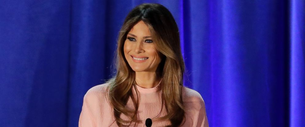PHOTO: Melania Trump speaks in Berwyn, Pennsylvania in this Nov. 3, 2016 file photo.