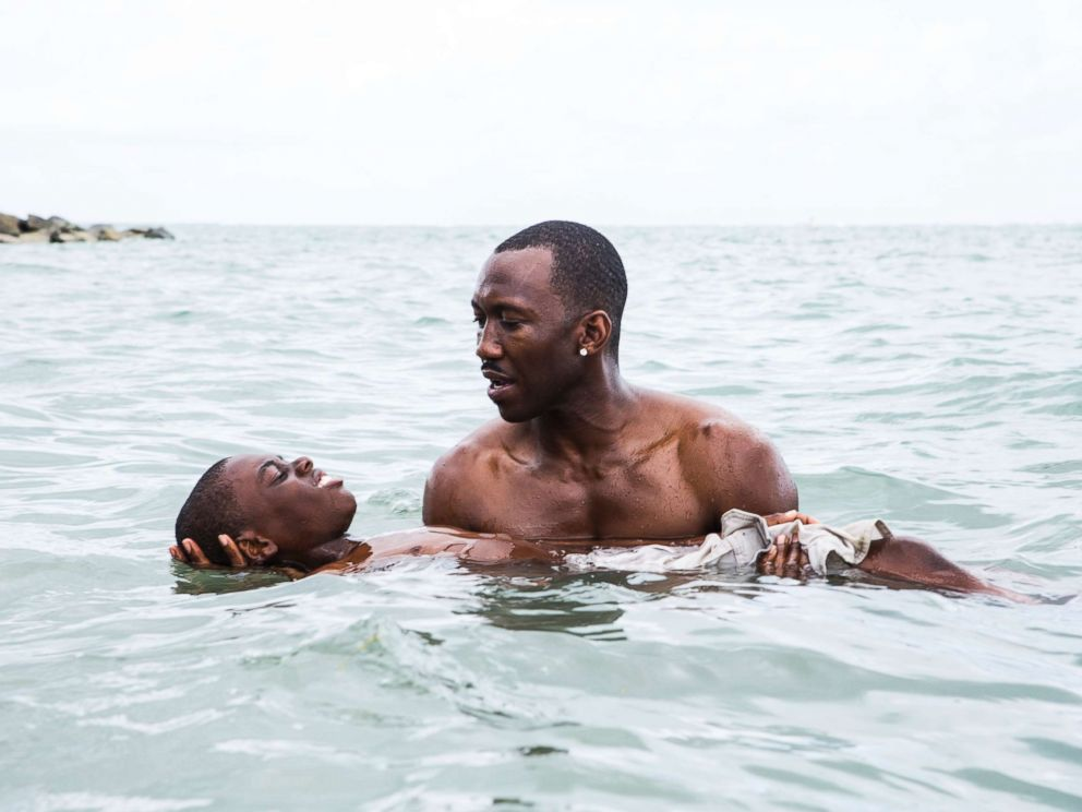 PHOTO: Alex Hibbert, foreground, and Mahershala Ali in a scene from the film, Moonlight.