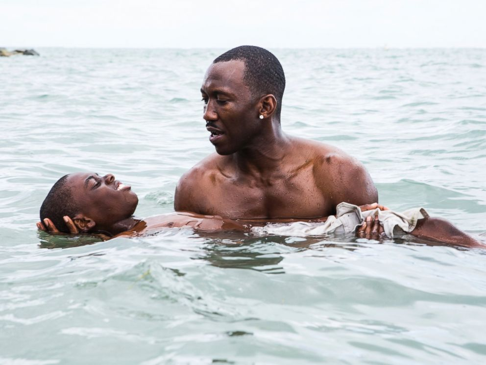 PHOTO: This image released by A24 shows Alex Hibbert, foreground, and Mahershala Ali in a scene from the film, Moonlight.