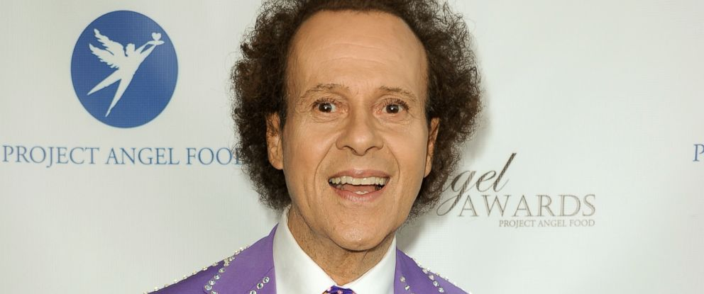PHOTO: Fitness guru Richard Simmons arrives at the Project Angel Foods 2013 Angel Awards in Los Angeles, Calif.,August 10, 2013.