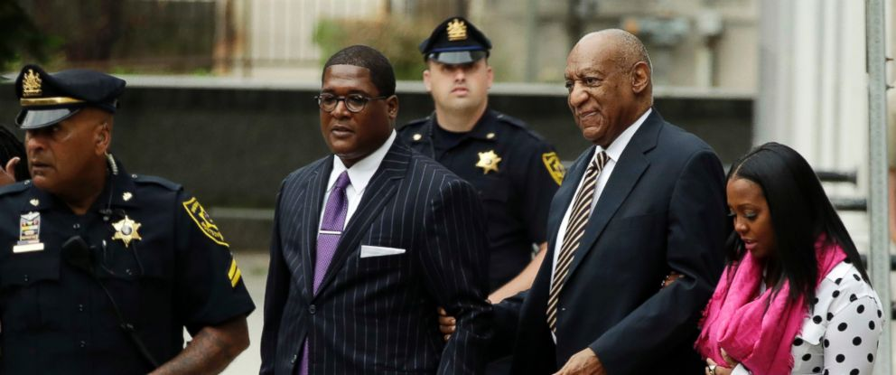 PHOTO: Bill Cosby arrives for his sexual assault trial at the Montgomery County Courthouse, June 5, 2017, in Norristown, Pa.