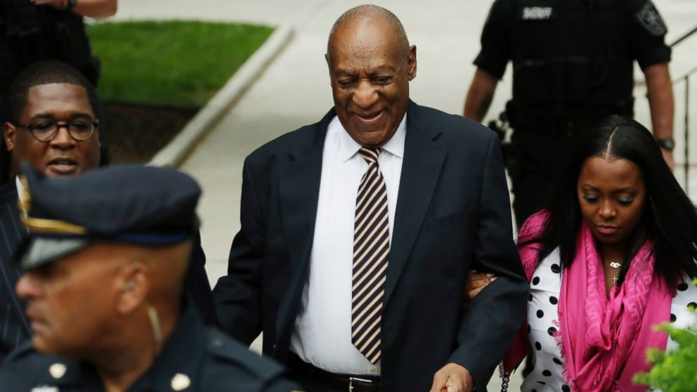 Bill Cosby arrives for his sexual assault trial at the Montgomery County Courthouse in Norristown, Pa., June 5, 2017.