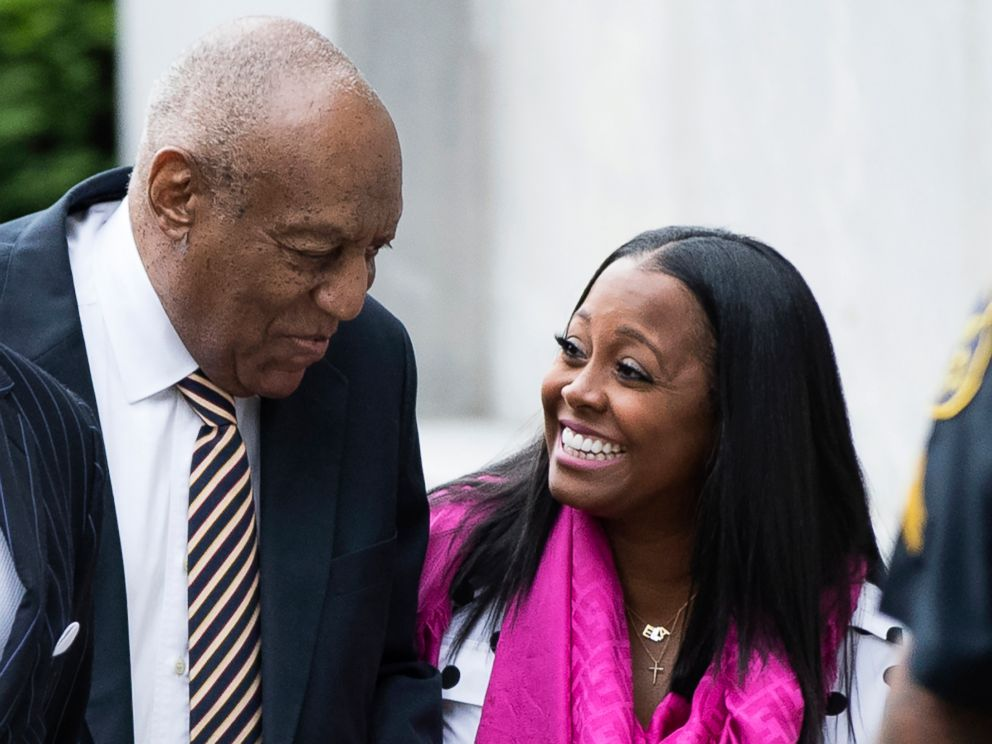 PHOTO: Bill Cosby arrives for his sexual assault trial with Keshia Knight Pulliam, right, at the Montgomery County Courthouse in Norristown, Pa., June 5, 2017.