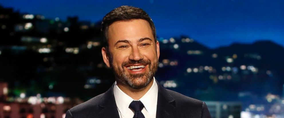 "PHOTO: In this April 11, 2017 photo, host Jimmy Kimmel appears during a taping of ""Jimmy Kimmel Live,"" in Los Angeles."