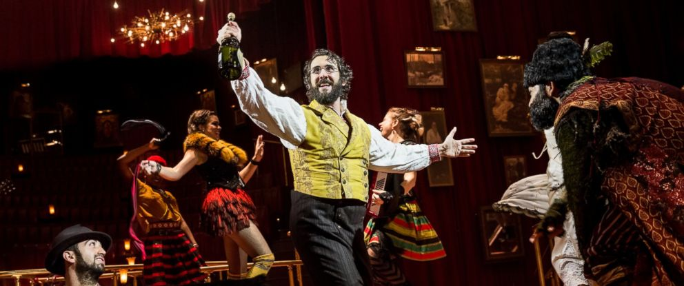 "PHOTO: Josh Groban is pictured during a performance of ""Natasha, Pierre & the Great Comet of 1812,"" in New York."
