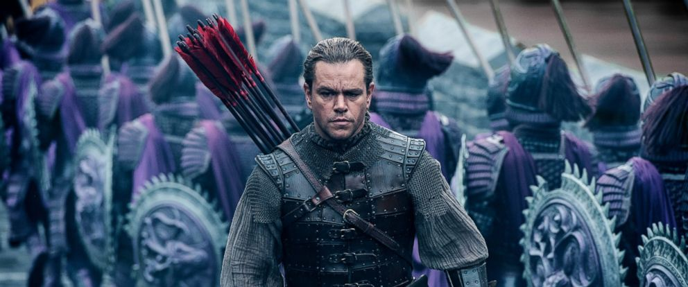 "PHOTO: Matt Damon as William Garin in a scene from ""The Great Wall."""