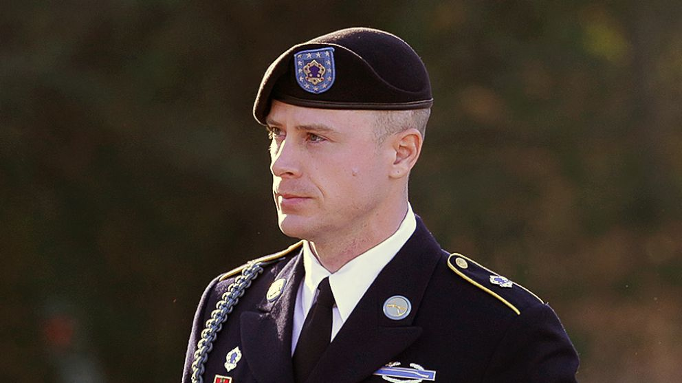 Army Sgt. Bowe Bergdahl arrives for a pretrial hearing at Fort Bragg, N.C., Jan. 12, 2016. Bergdahl, who was held by the Taliban for five years after he walked off a base in Afghanistan, faces charges of desertion and misbehavior before the enemy.