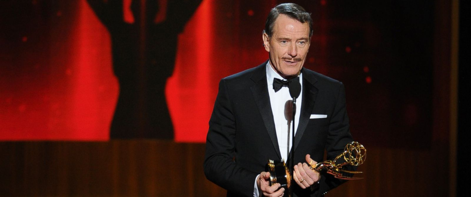PHOTO: Bryan Cranston accepts the award for outstanding lead actor in a drama series for his work in ?Breaking Bad? at the 66th Primetime Emmy Awards at the Nokia Theatre L.A. Live on Aug. 25, 2014, in Los Angeles.