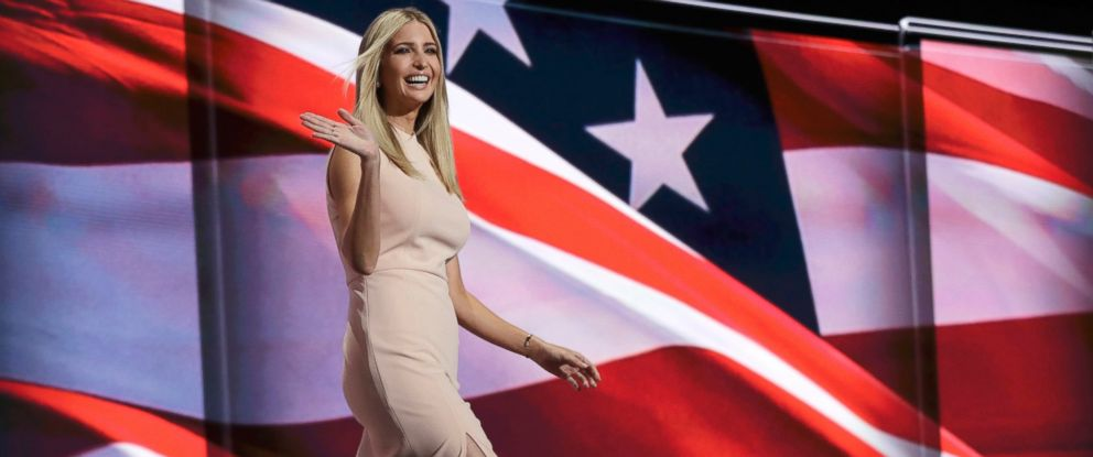 PHOTO: Ivanka Trump, daughter of Republican presidential candidate Donald Trump, walks to the podium during the final day of the Republican National Convention in Cleveland, July 21, 2016.
