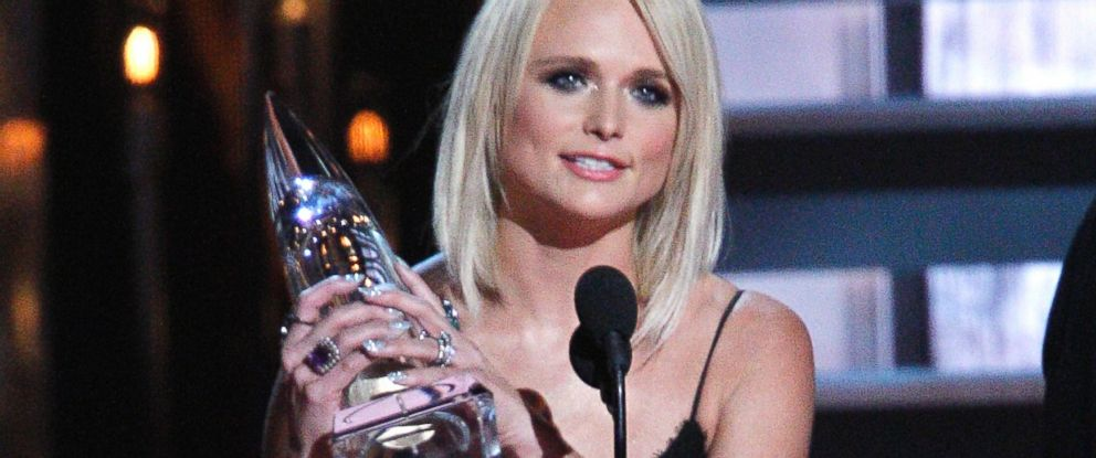 Miranda Lambert accepts the album of the year award for Platinum at the 48th annual CMA Awards at the Bridgestone Arena on Wednesday, Nov. 5, 2014, in Nashville, Tenn.