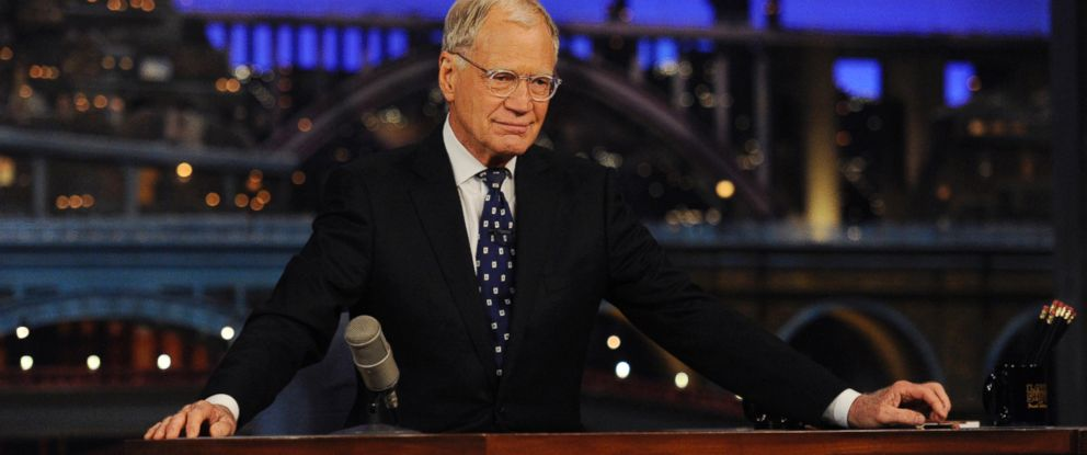 """PHOTO: David Letterman appears during a taping of his final """"Late Show with David Letterman,"""" May 20, 2015 at the Ed Sullivan Theater in New York."""