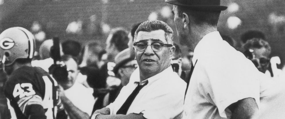 PHOTO: Green Bay Packers head coach Vince Lombardi talks to assistant coach Phil Bengtson on the sidelines during Super Bowl I, against the Kansas City Chiefs on Jan. 15, 1967, played at the Los Angeles Memorial Coliseum in Los Angeles, Calif.