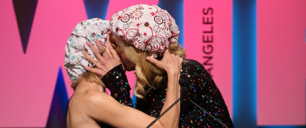 PHOTO: Naomi Watts, left, and Nicole Kidman, winner of the Crystal Award for Excellence in Film, embrace at the Women in Film 2015 Crystal And Lucy Awards at the Hyatt Regency Century Plaza, June 16, 2015 in Los Angeles.