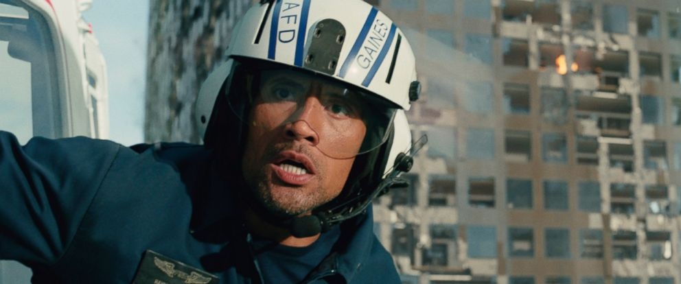 "PHOTO: Dwayne Johnson as Ray in a scene from the action thriller, ""San Andreas."""