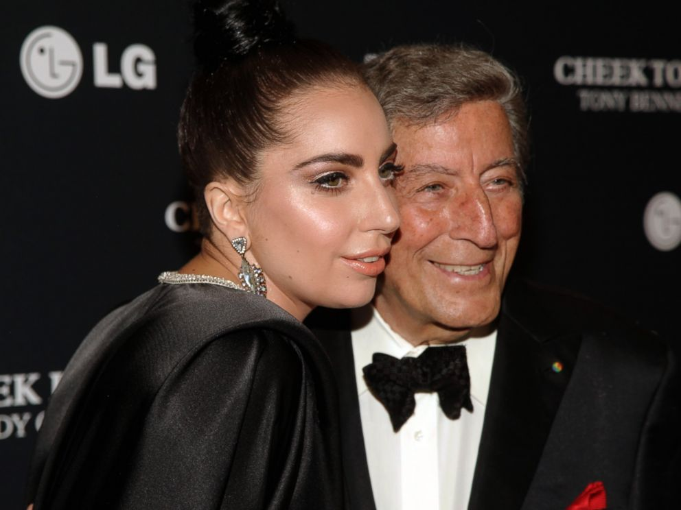 PHOTO: Tony Bennett, right, and Lady Gaga attend a concert taping, July 28, 2014, in New York.